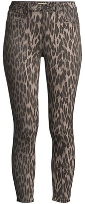 L'Agence Margot High-Rise Ankle Skinny Leopard-Print Jeans