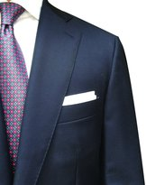 Hall Madden 100% Linen Handmade Pocket Square Handkerchief in Perfect Suit Size (1-PACK)