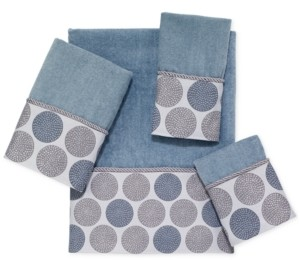 Avanti Dotted Circles Bath Towel Bedding