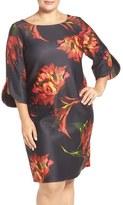 Gabby Skye Plus Size Women's Floral Print Shift Dress