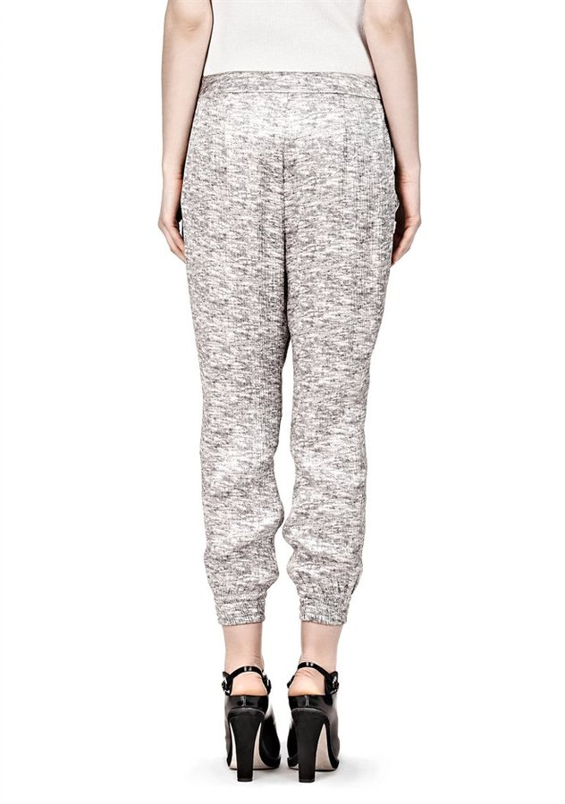 Alexander Wang Cropped Track Pant With Corded Waistband