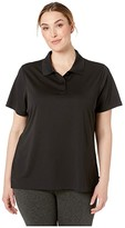 Dickies Plus Size Short Sleeve Performance Polo (Black) Women's Short Sleeve Pullover