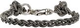 Emanuele Bicocchi Silver Braided Knot Bracelet