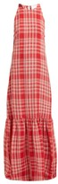 Marios Schwab On The Island By Ogygia Checked Maxi Dress - Womens - Red White