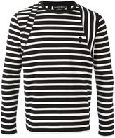 Alexander McQueen striped skull badge jumper - men - Cotton - S