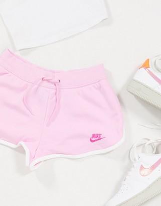 Nike runner shorts in pink