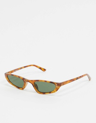A. J. Morgan AJ Morgan slim square sunglasses in tort