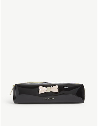 Ted Baker Franai bow detail PVC make-up pouch.