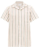 Onia - Vacation Camp Collar Striped Linen Shirt - Mens - Multi