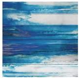 "Parvez Taj Blue Painted Ocean Canvas Wall Art - 32\"" x 32\"""