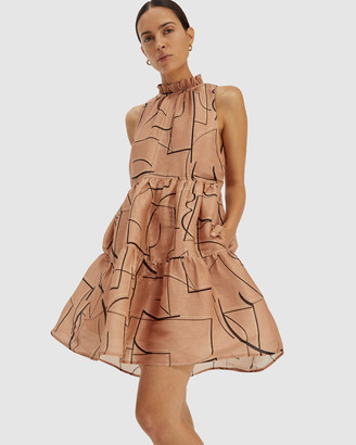 SABA Women's Mini Dresses - Dia Linen Silk Tiered Dress - Size One Size, XS at The Iconic