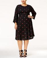 Melissa McCarthy Trendy Plus Size Kiss-Print Dress