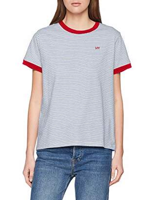 Lee Women's Stripe Tee T-Shirt,(Size: Small)