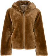 Vince shearling hooded jacket