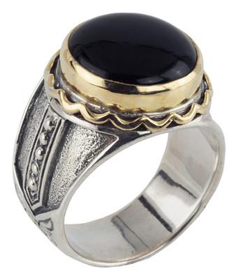 Konstantino 18K & Silver Onyx Ring