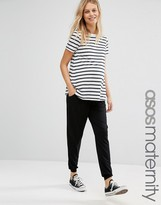 Asos Jersey Peg Trouser With Draw Cord Waist