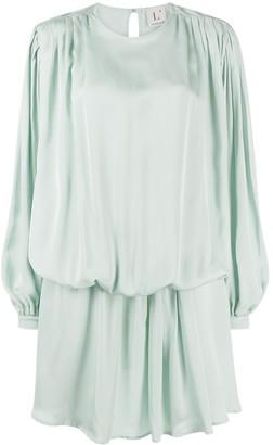 L'Autre Chose Asymmetric Draped Short Dress