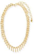Sequin Golden Dangle Statement Necklace