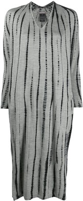 Suzusan Tie-Dye Striped Knitted Dress