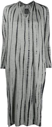 Suzusan Tie-Dye Striped Knitted Dress