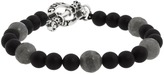 King Baby Studio Onyx Bead Bracelet with Smokey Quartz Bracelet