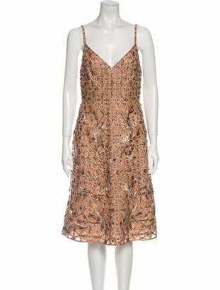 Valentino Printed Midi Length Dress w/ Tags