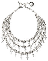 Giles & Brother Five Chain Cascading Thorn Necklace