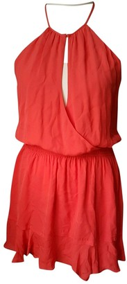 Parker Orange Silk Dress for Women