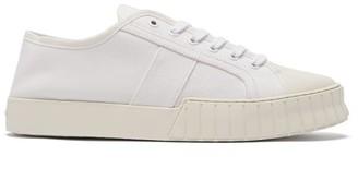 Primury - Divid Organic-cotton Canvas Trainers - White