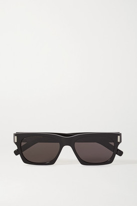 Saint Laurent Square-frame Acetate Sunglasses - Black