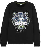 Kenzo Tiger Appliquéd Cotton-jersey Sweatshirt - Black