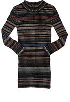 Milly Metallic-Striped Rib-Knit Sweaterdress