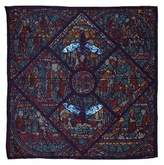 Astrid Sarkissian Mith Blue large square silk scarf