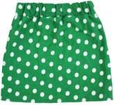 Petitebella White Polka Dots Cotton Skirt for Girl 1-8y