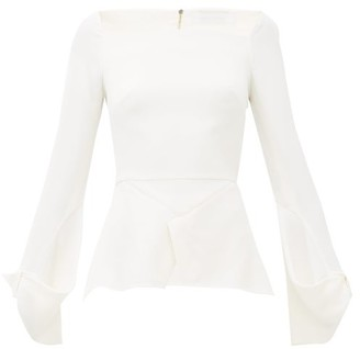 Roland Mouret Wicklow Peplum-hem Cady Top - White