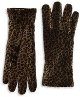 Cejon Animal Print Velvet Gloves