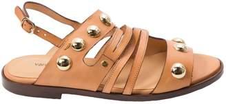 Vanessa Bruno Camel Leather Sandals