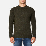 Barbour Netherby Crew Neck Knitted Jumper Forest