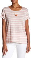 Velvet by Graham & Spencer Honor Short Sleeve Striped Short Sleeve Linen Tee
