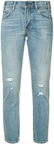 Levi's distressed cropped jeans - women - Cotton - 27