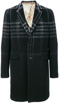 Etro plaid midi coat - men - Cotton/Polyamide/Cupro/Wool - 50