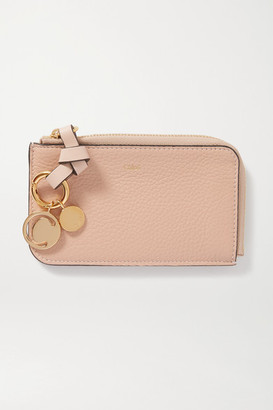 Chloé Alphabet Textured-leather Wallet - Pink
