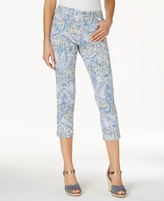 Charter Club Petite Bristol Printed Skinny Ankle Capri Jeans, Created for Macy's