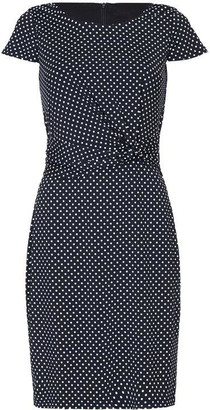 Yumi Polka Dot Printed Jersey Dress