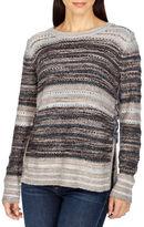Lucky Brand Textured Crochet Pullover