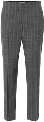Prada Mid-rise wool-blend straight pants