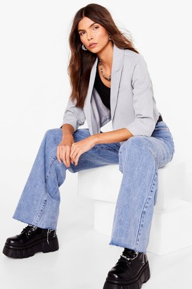Nasty Gal Womens This Means Business Cropped Tailored Blazer - Sage