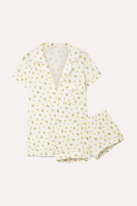 Eberjey Dianna Printed Stretch-modal Jersey Pajama Set - Off-white