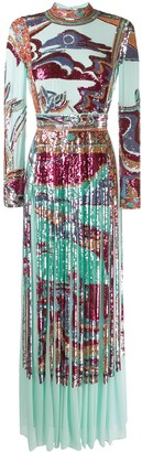 Emilio Pucci Sequinned Evening Gown