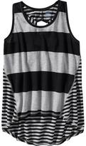 Old Navy Girls Mixed-Stripe Cutout-Back Tanks